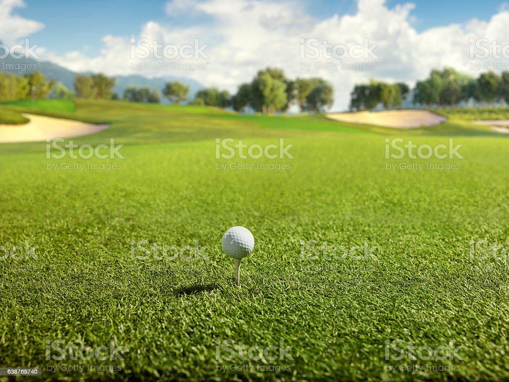 Golf: Golf course stock photo