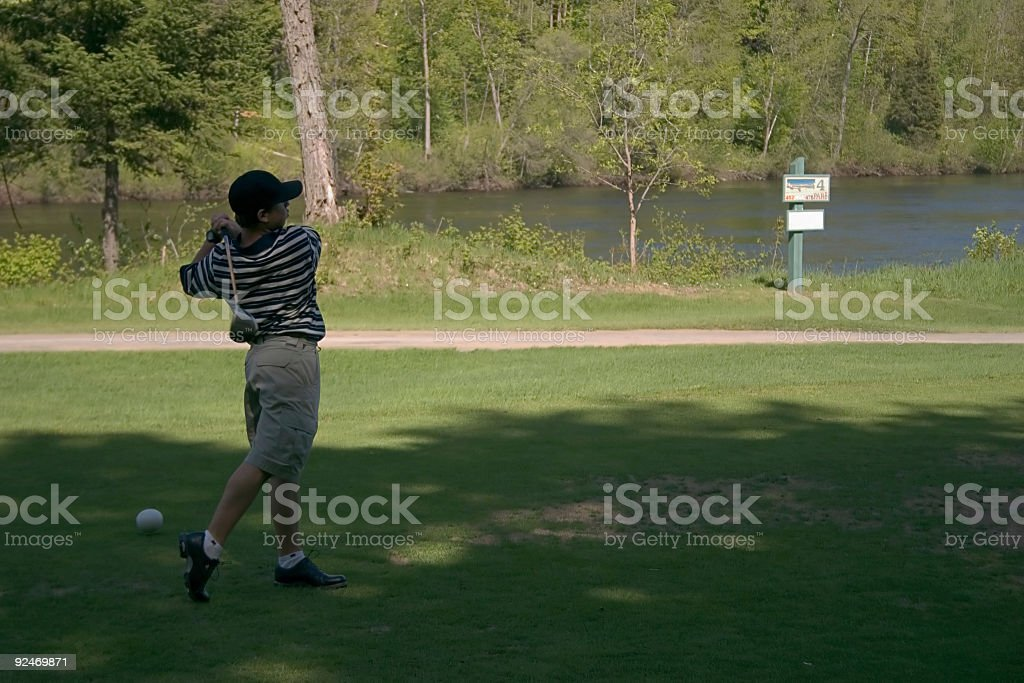 Golf, Great swing stock photo