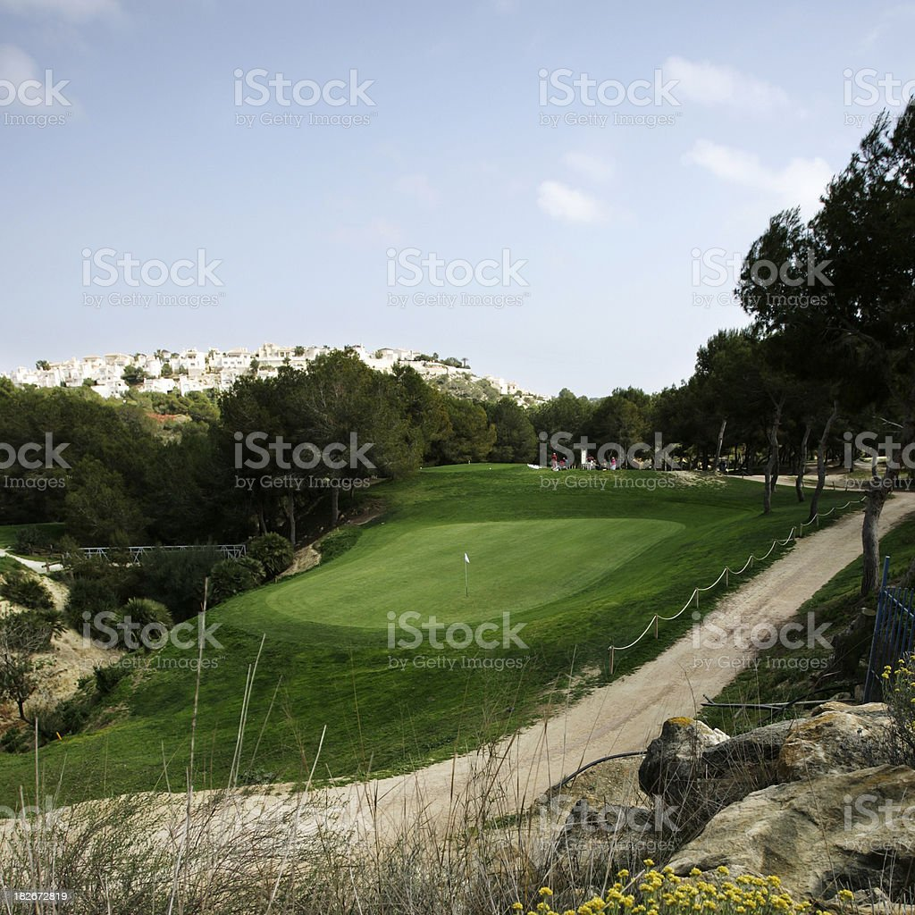 Golf Green 2 royalty-free stock photo