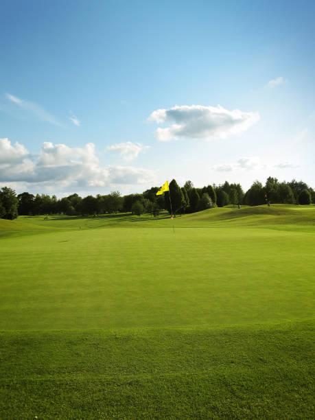 Golf green and nice sky stock photo