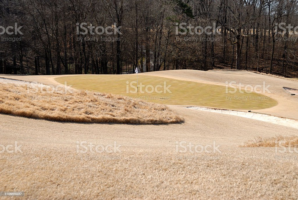 golf green at georgia usa in the winter royalty-free stock photo