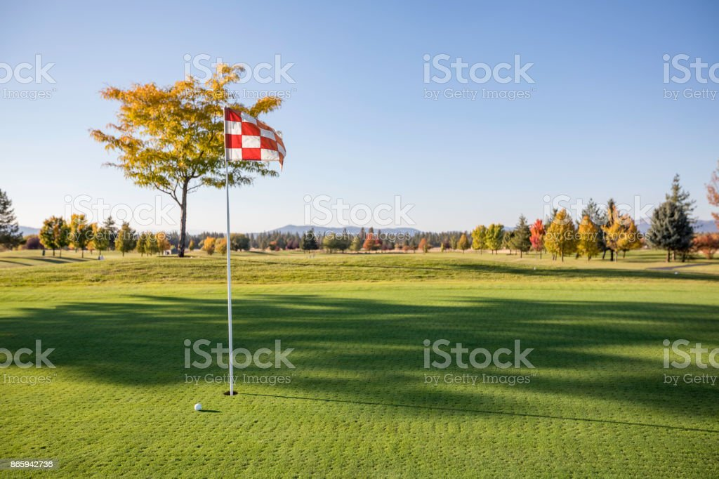 Golf Green Ball stock photo