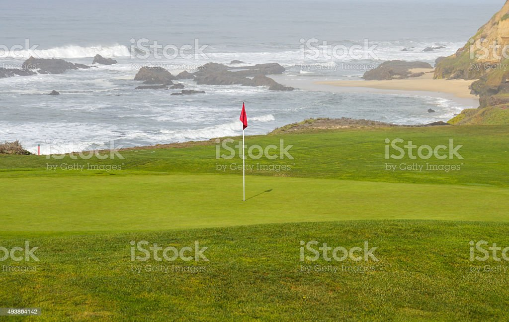 Golf green by the coast