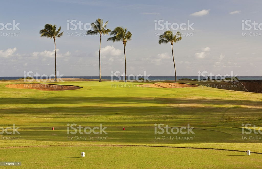Golf Green By the Sea royalty-free stock photo
