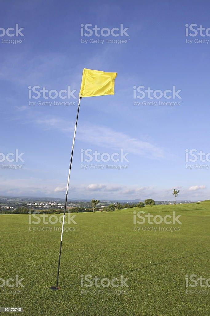Golf Green Flag royalty-free stock photo