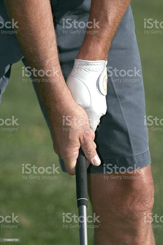 golf hands royalty-free stock photo