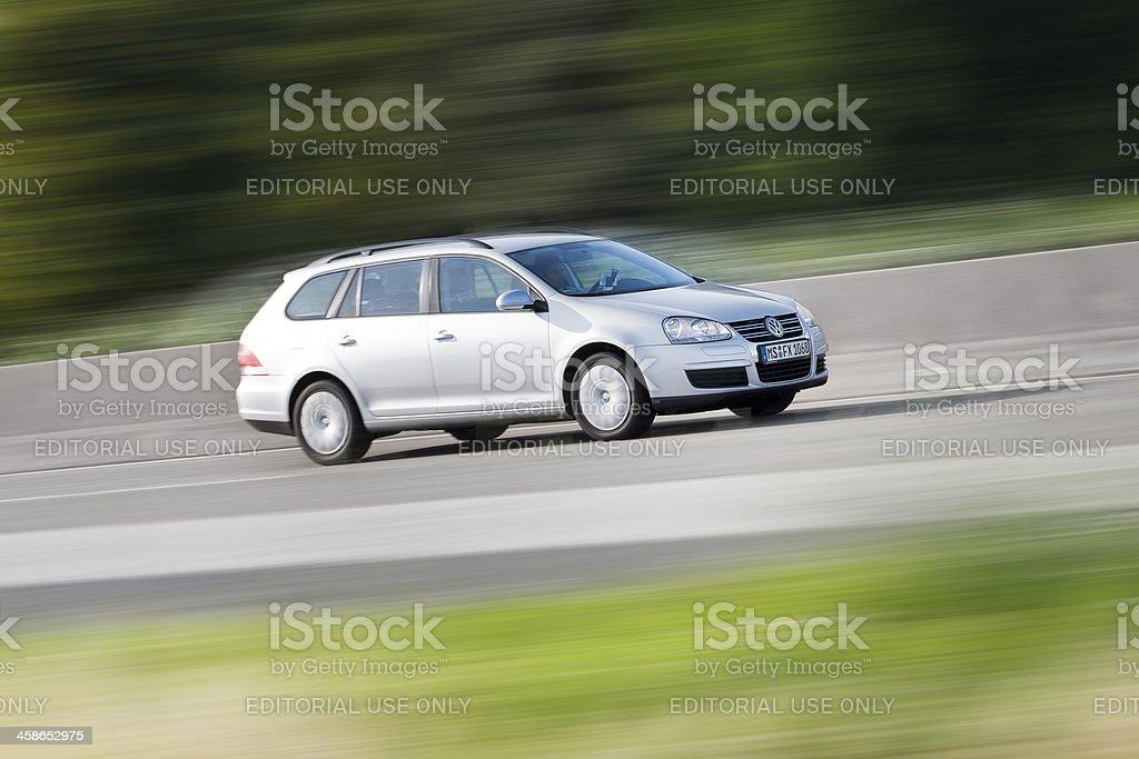 VW Golf, high speed royalty-free stock photo