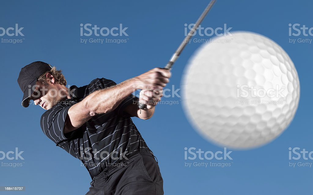 Golf Hit royalty-free stock photo