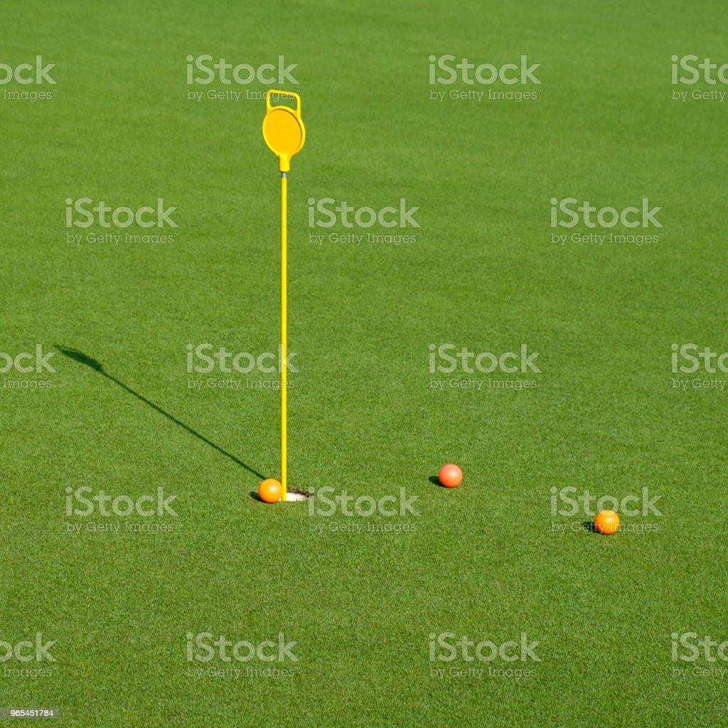 그린 필드 골프 구멍 - 로열티 프리 0명 스톡 사진