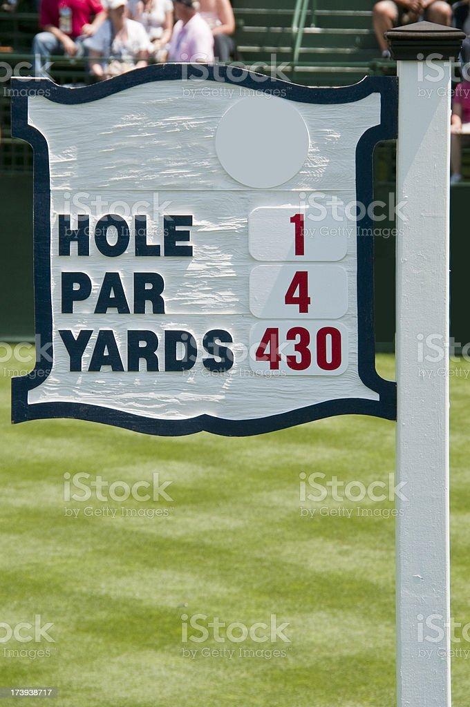Golf Hole Number 1 stock photo