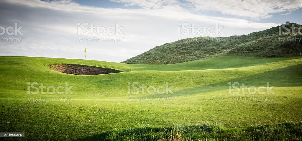 Golf hole stock photo
