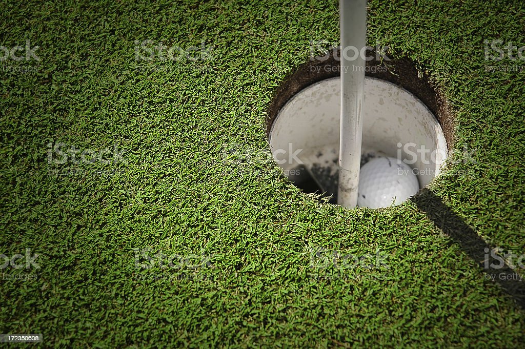 golf hole with ball royalty-free stock photo