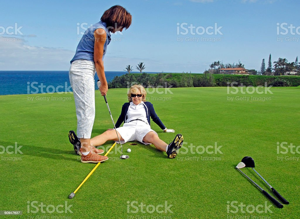 Golf Humor stock photo