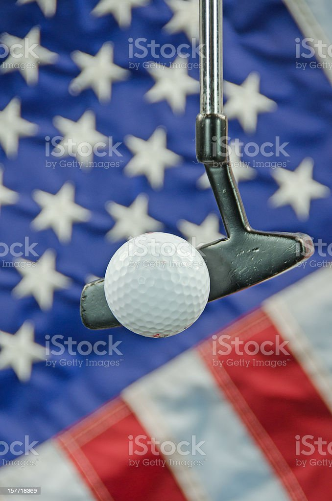 Golf in America stock photo