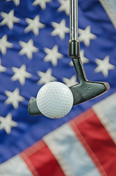 Golf in America stock photo