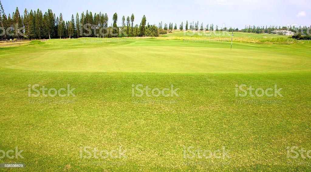 Golf in Hawaii stock photo