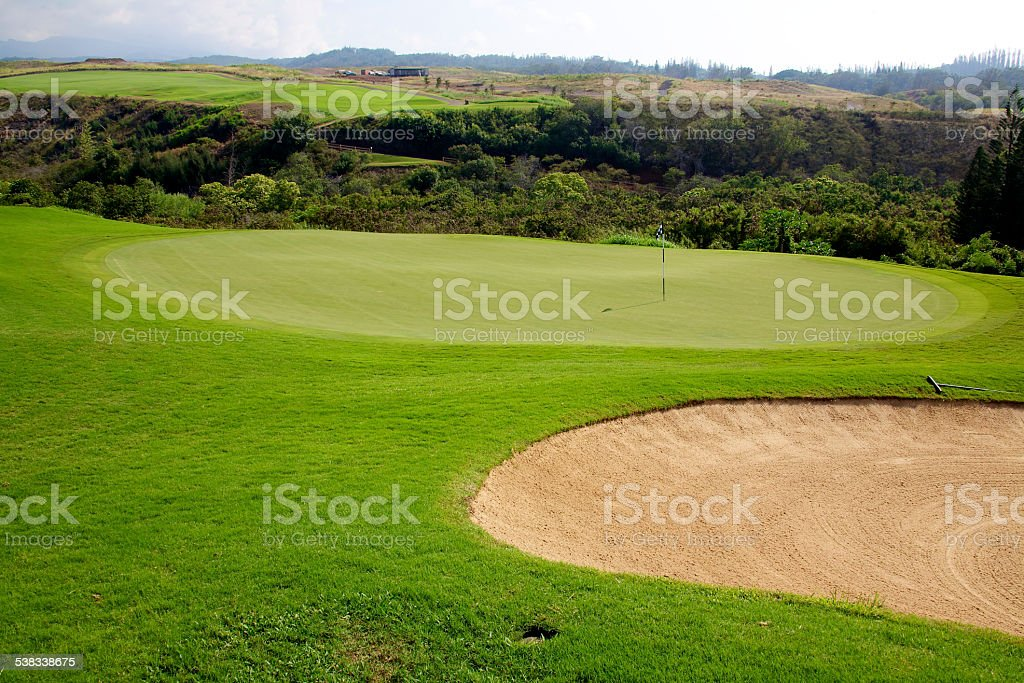 Golf in Maui stock photo