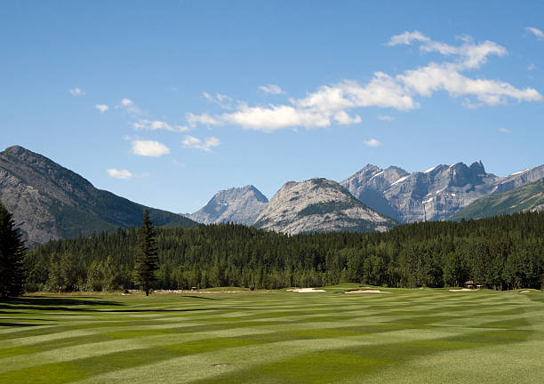 Golf in The Canadian Rockies Golf in the Rocky Mountains.If you like this image you may want to look at other Canada or GOLF Images of mine : kananaskis country stock pictures, royalty-free photos & images