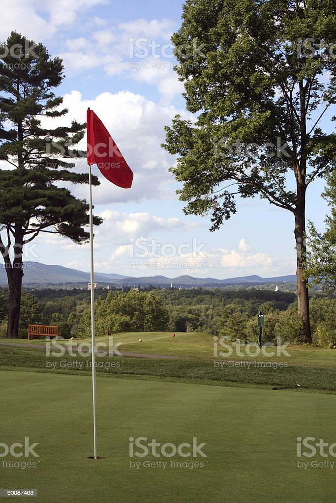 Golf in the hills of Berkshire County, Massachusetts royalty-free stock photo