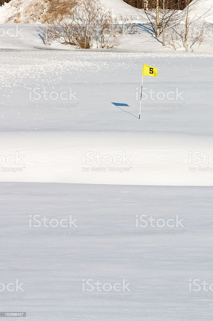Golf is out of season royalty-free stock photo
