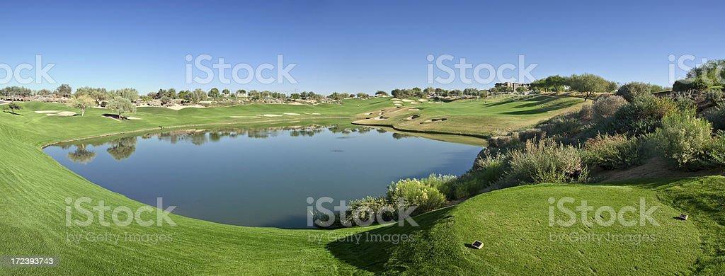 Golf Landscape Panorama stock photo
