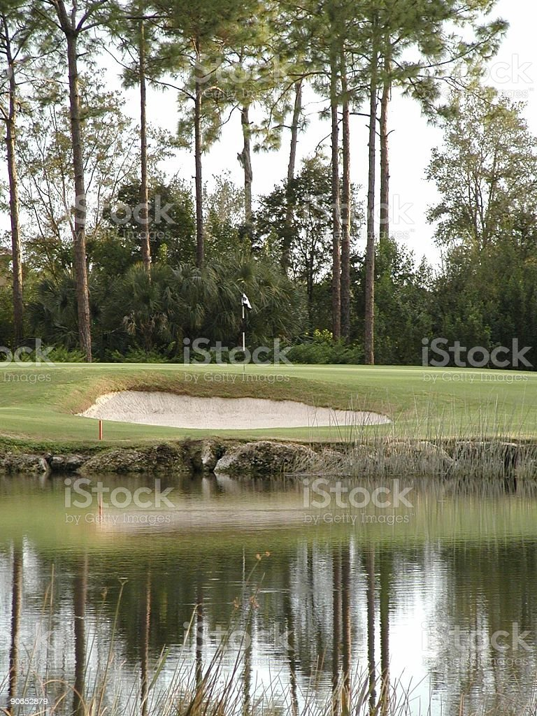 Golf Landscape Reflection 2 royalty-free stock photo