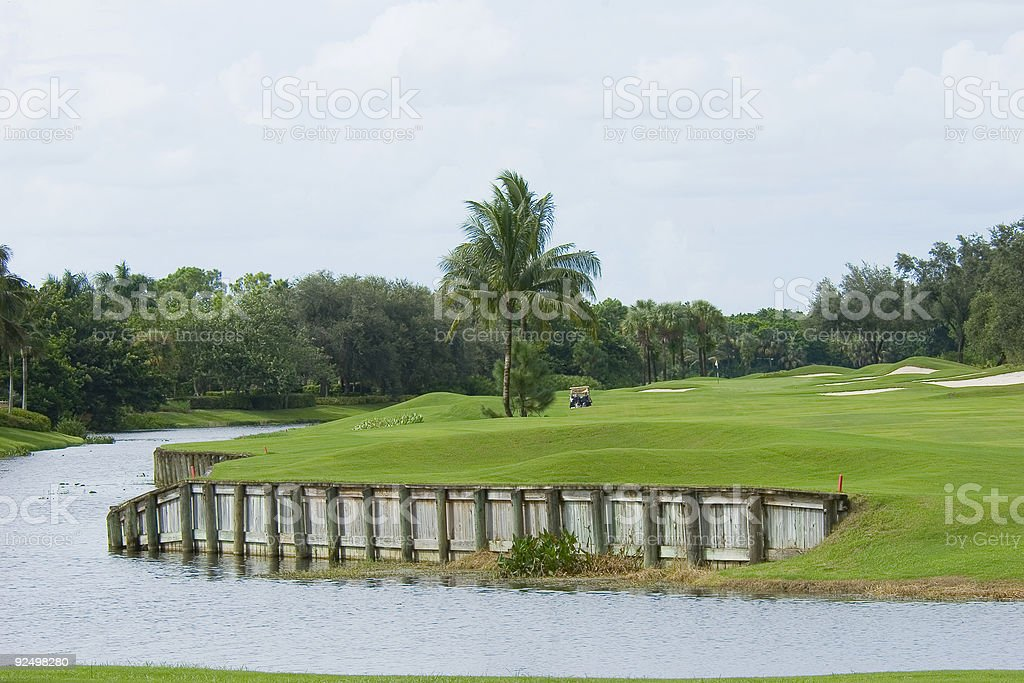 Golf Landscaping royalty-free stock photo