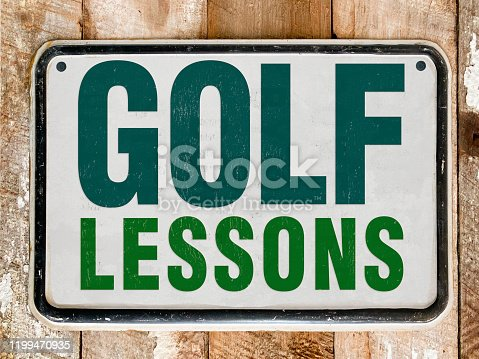 Golf Lessons Sign