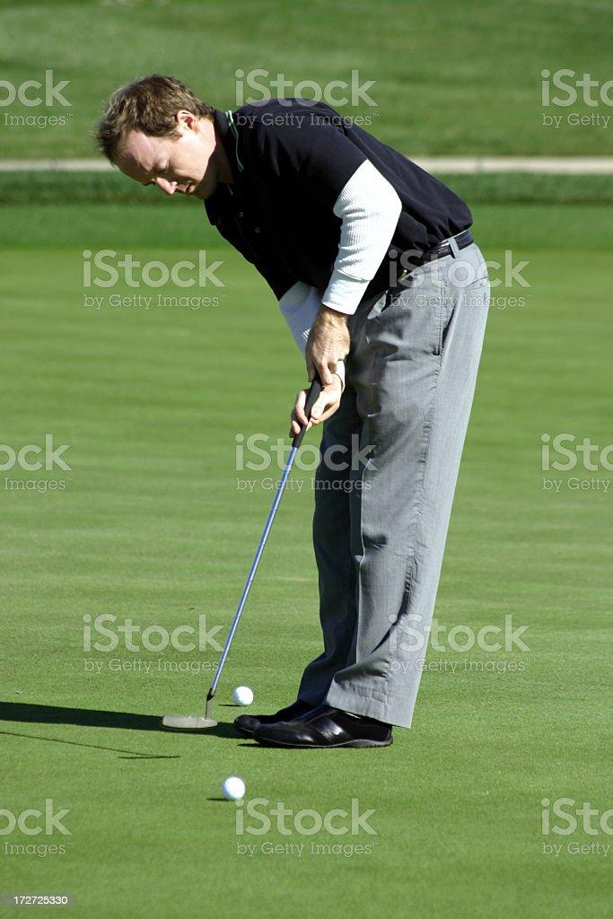 Golf Man Practice Putting royalty-free stock photo
