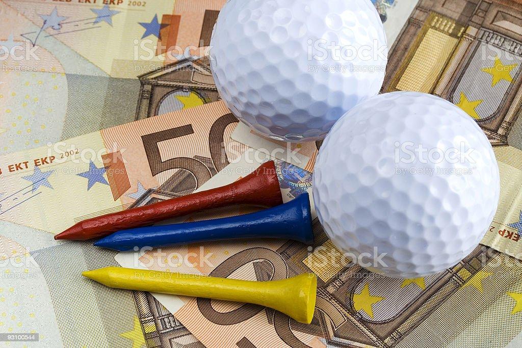Golf & money royalty-free stock photo