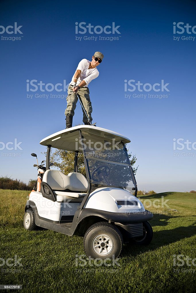 golf on the top royalty-free stock photo