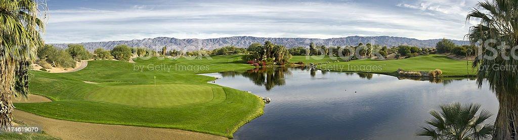 Golf Panorama (XXL) royalty-free stock photo