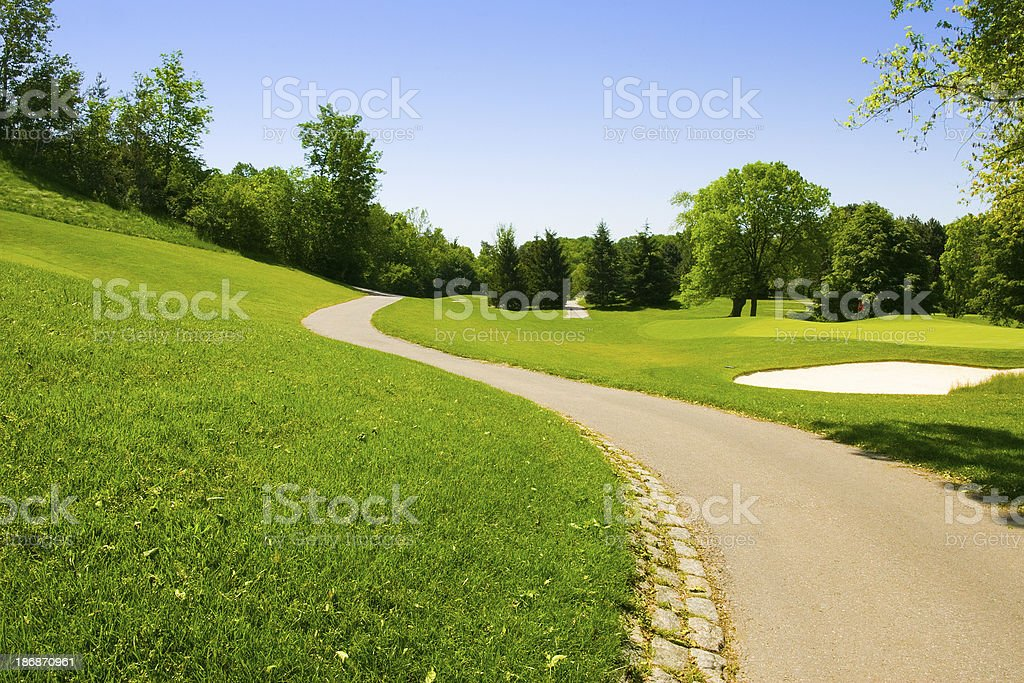 golf path stock photo