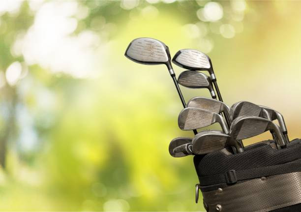 golf. - golf clubs stock photos and pictures