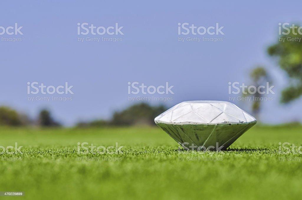 Golf pin 2 stock photo