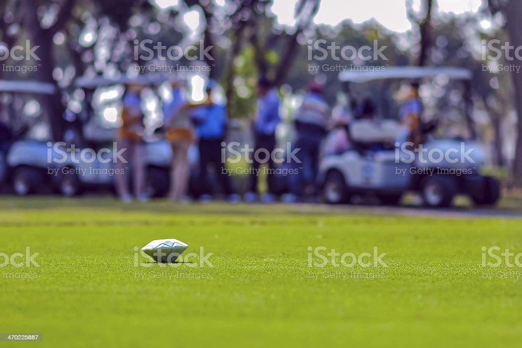 Golf pin stock photo