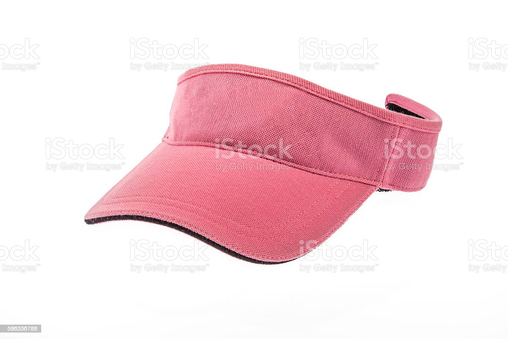 Golf Pink  visor for man or woman stock photo