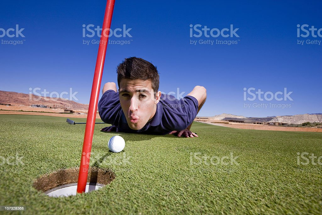 Golf Player Cheating royalty-free stock photo