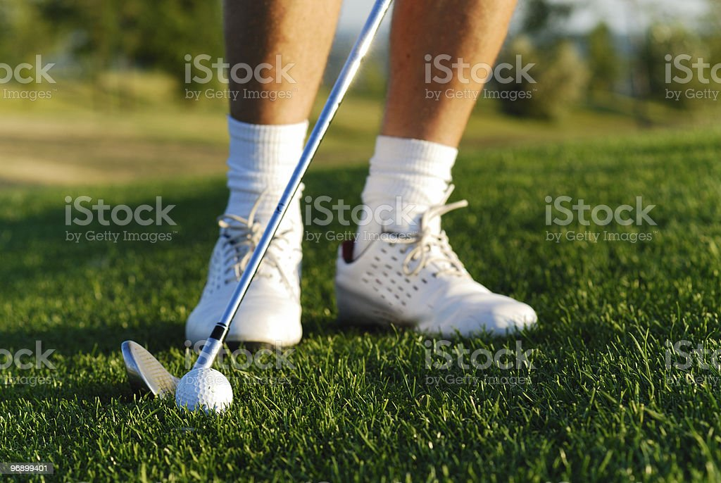 Golf player close up royalty-free stock photo