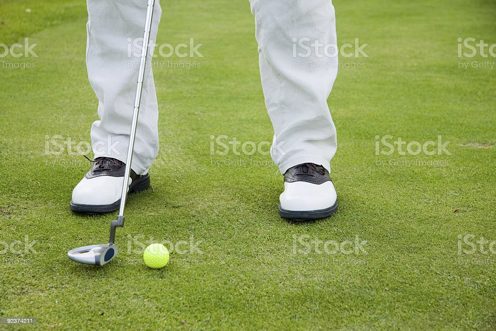 Golf-Spieler in Schuh Lizenzfreies stock-foto