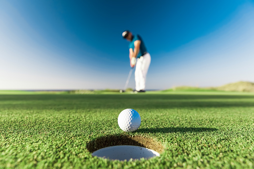 Links golf style. A links is the oldest style of golf course, first developed in Scotland. The word