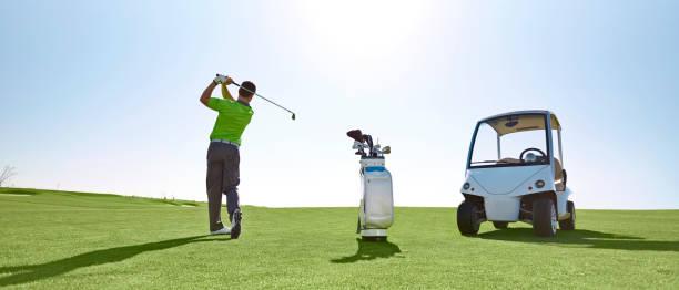 golfspieler - einzelner mann über 30 stock-fotos und bilder
