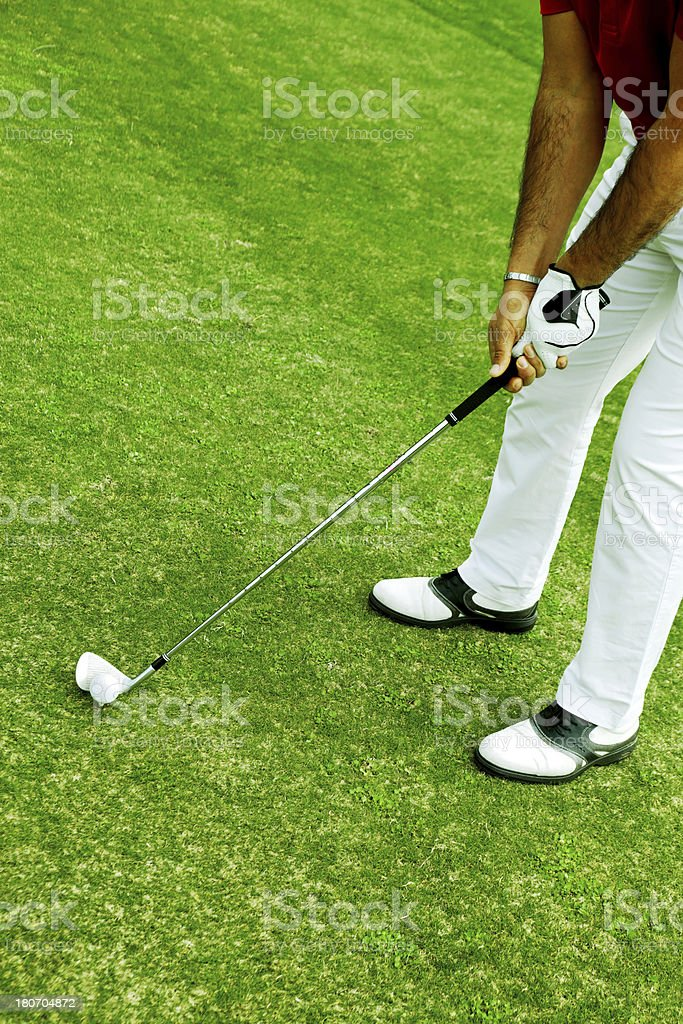 Golf Player royalty-free stock photo