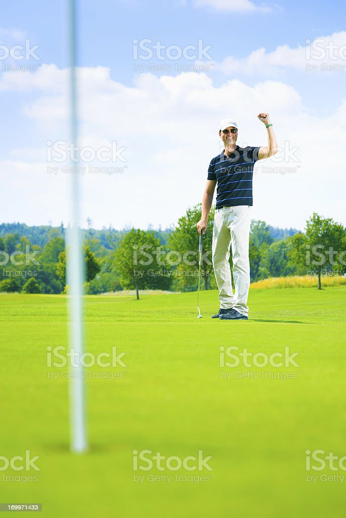 golf player putting royalty-free stock photo