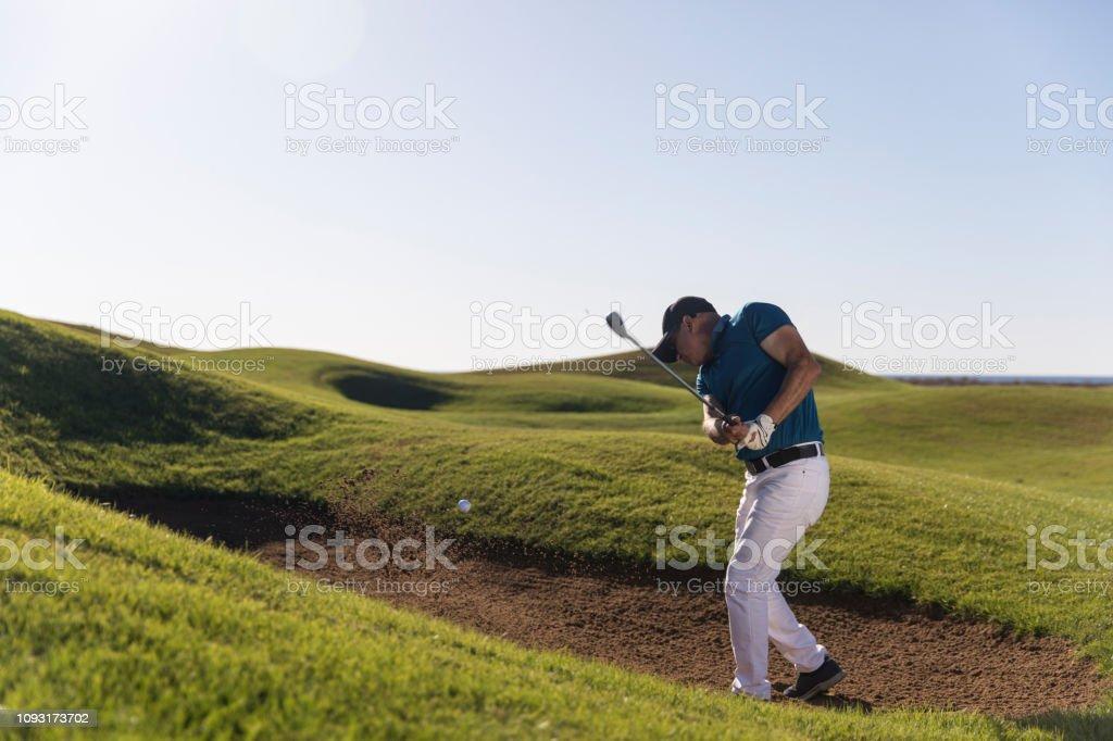 Golf player shoting ball - Links Golf