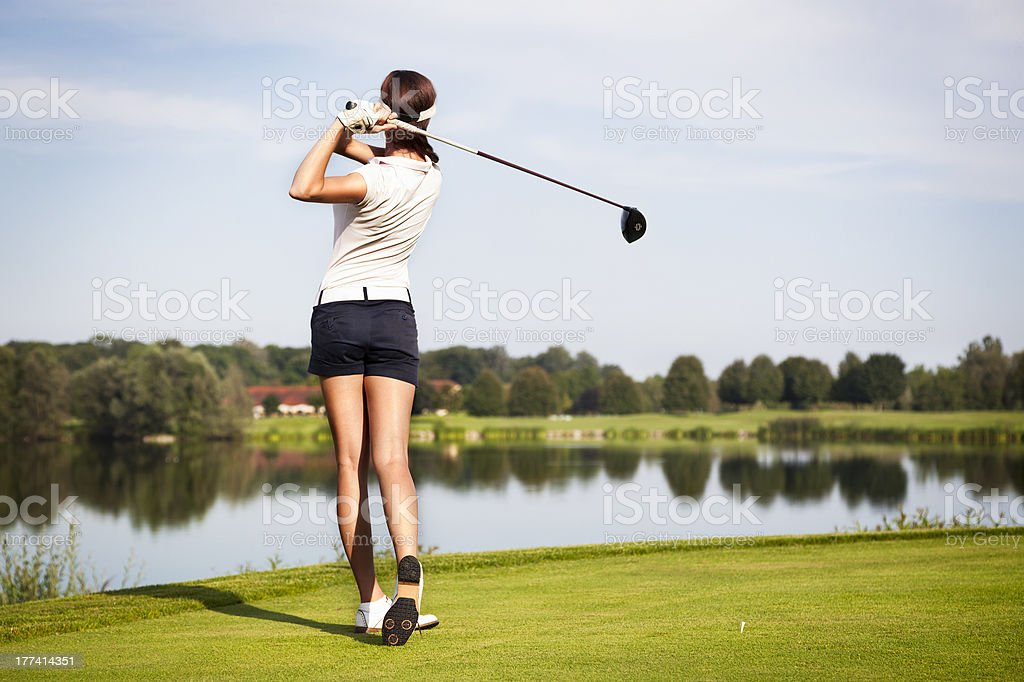 Joueur de Golf Tee off - Photo