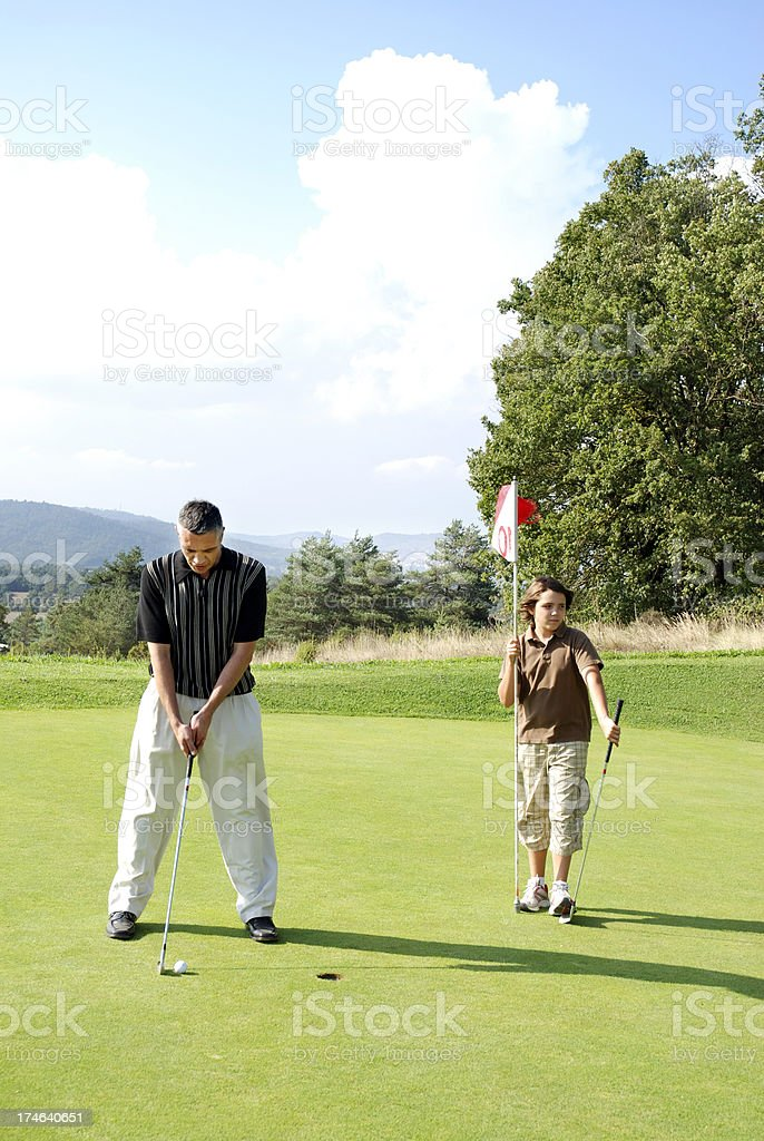 Golf players royalty-free stock photo