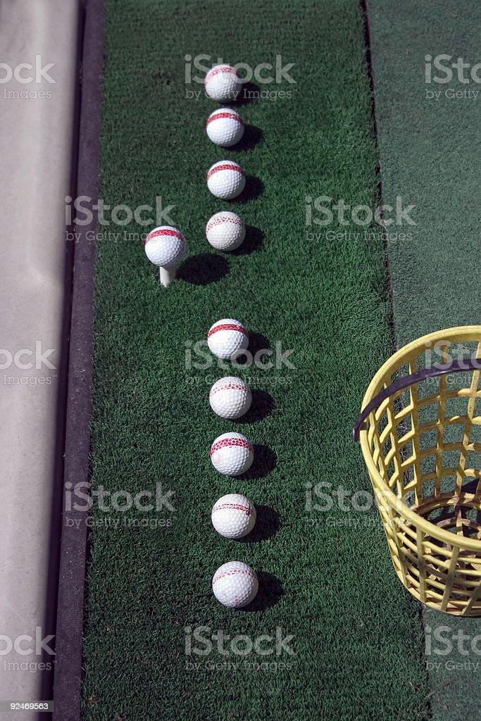 Golf, Practice Setup royalty-free stock photo