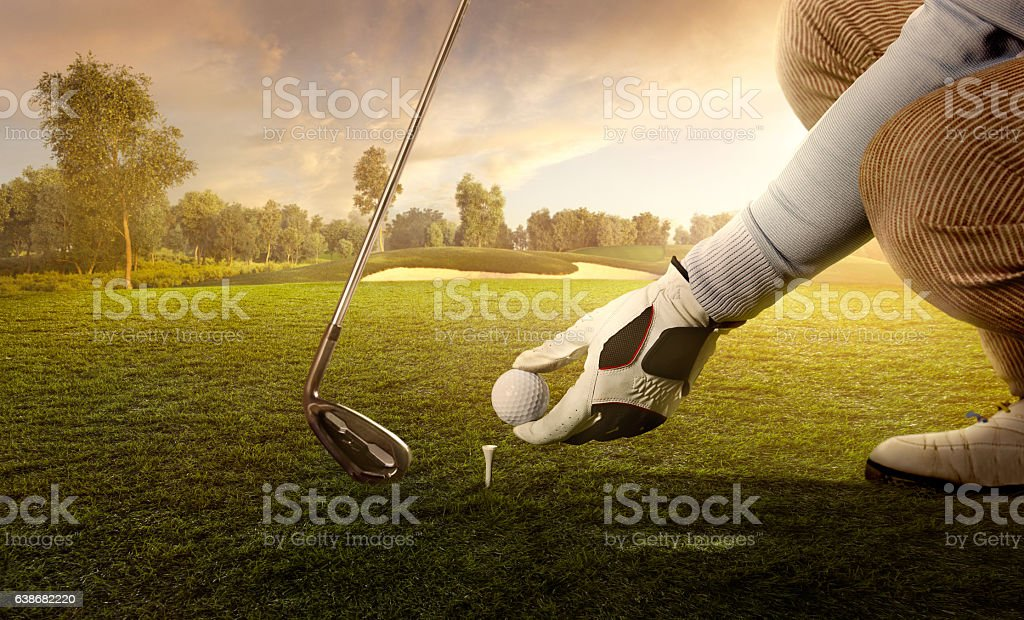Golf: Preparing for strike stock photo