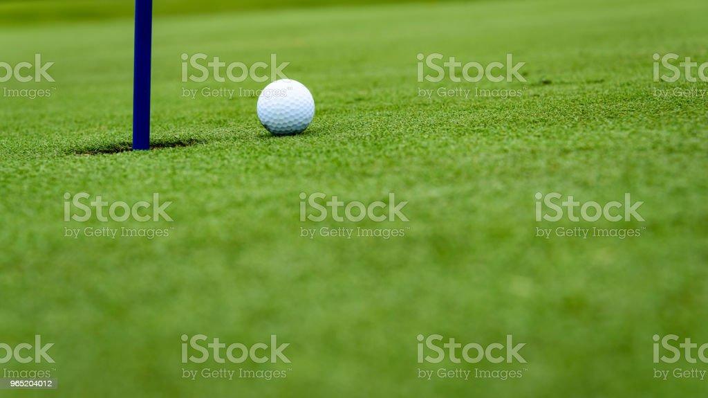 Golf putting detail royalty-free stock photo